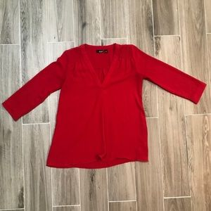 A New Approach Semi Sheer Red Blouse Size Small
